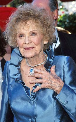 Harry Winston's Heart of the Ocean The famous jeweler also created a necklace similar to the prized Titanic gem. Features a 15 carat blue diamond. Gloria Stuart—the elder Rose in the film—dazzled in the necklace at the 1998 Academy Awards. Worth $20 million, making it the single most expensive piece of jewelry ever worn to the Academy Awards.