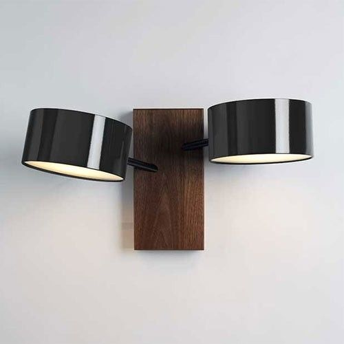 Excel Double Wall Sconce, Rich Brilliant Willing, in black, red or white