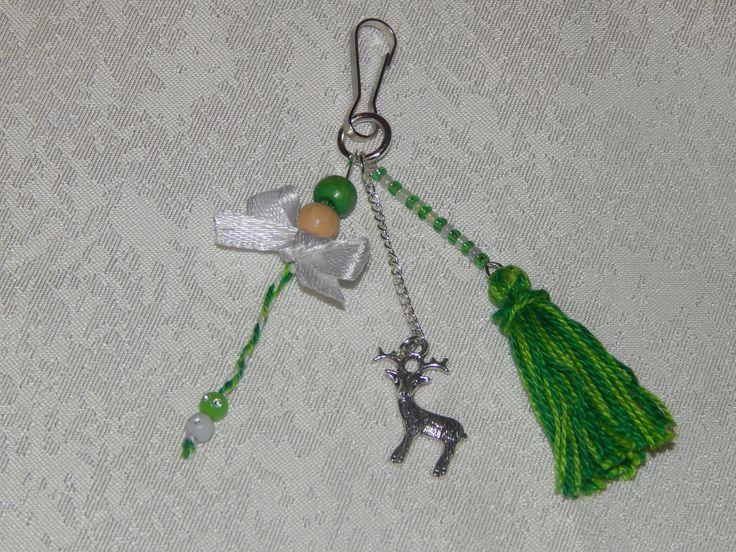 Bijoux de sac pendentifs breloque cerf, pompon, perle, noeud : Autres bijoux par creacendre