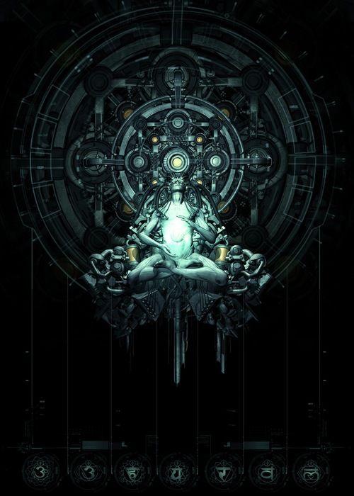 AI, UI, control terminal, tech, cyberpunk art, futuristic art, nihilisme, science fiction, digital art, spiritual, sci-fi