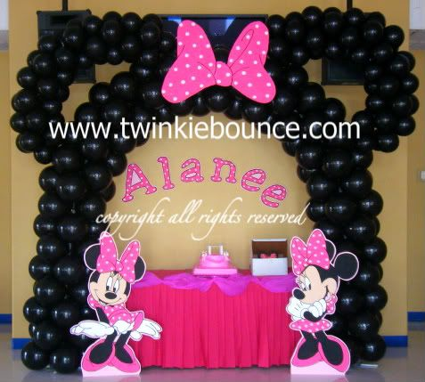 Minnie mouse balloons sophie 39 s birthday ideas for Balloon decoration minnie mouse