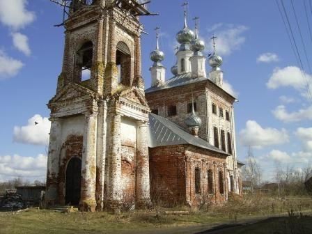 село Старая Слобода разрушенный  храм
