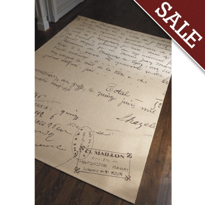 French Script Indoor Outdoor Rug For The Home