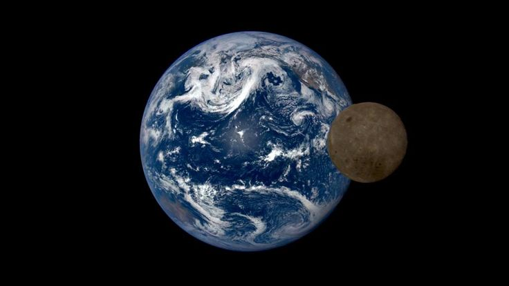 """A stunning time-lapse from the Deep Space Climate Observatory includes that time the moon """"photobombed"""" our home planet."""