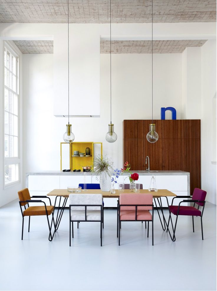 50s inspired dining space