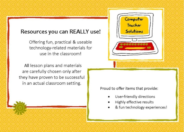 Lesson plans & activities for those who teach computer skills!