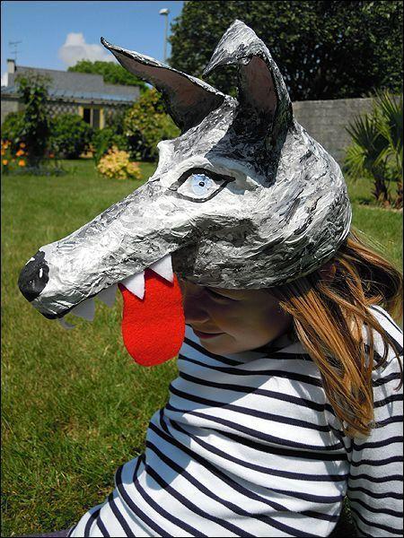 17 meilleures id es propos de masque animaux sur pinterest costumes de cerf pour halloween - Masque de loup a fabriquer ...