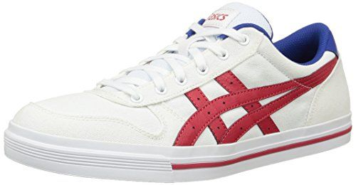 ASICS Aaron, Unisex-Erwachsene Sneakers, Weiß (white/classic Red 0123), 39.5 EU - http://on-line-kaufen.de/asics/39-5-eu-asics-aaron-unisex-erwachsene-sneaker-3