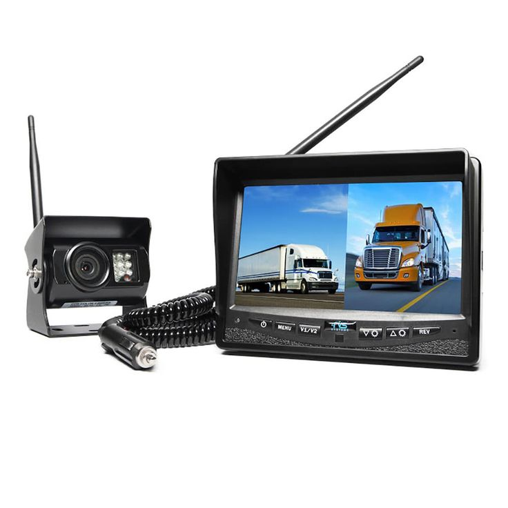 Our Wireless Dual Camera System comes with a digital wireless connection and a split screen monitor to view two cameras at the same time.