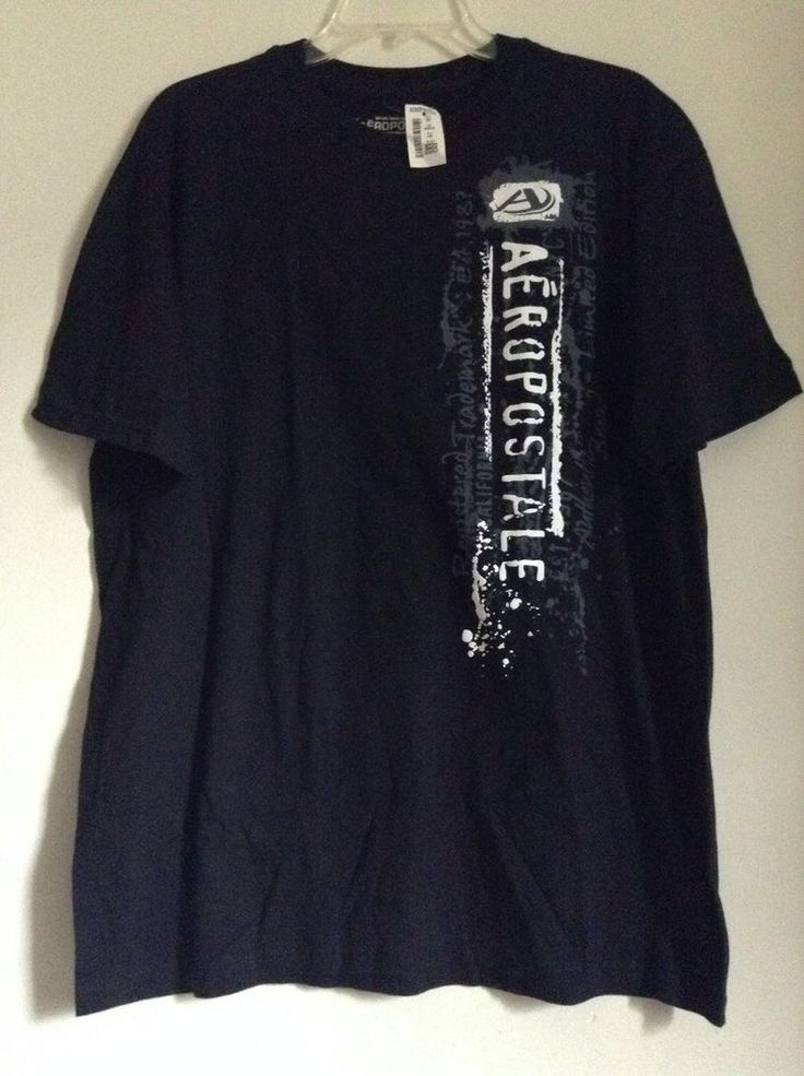 Mens Aeropostale Black vertical graphic t shirt size Large ...