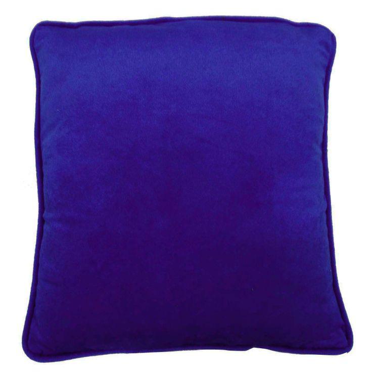 Plain Royal blue Color Velvet Cushion Cover. ..this is img