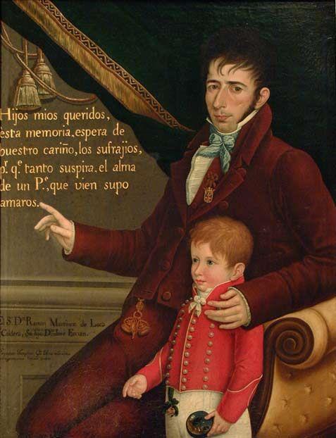 Gil de Castro, Don Ramón Martinez de Luco y su hijo (1816)