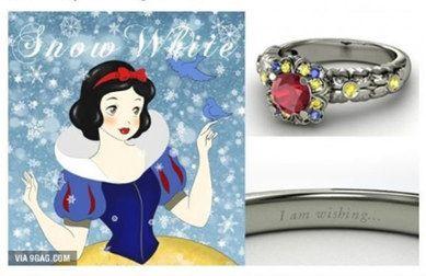 Un amore da favola: gli anelli di fidanzamento ispirati alle principesse #Disney   #Biancaneve