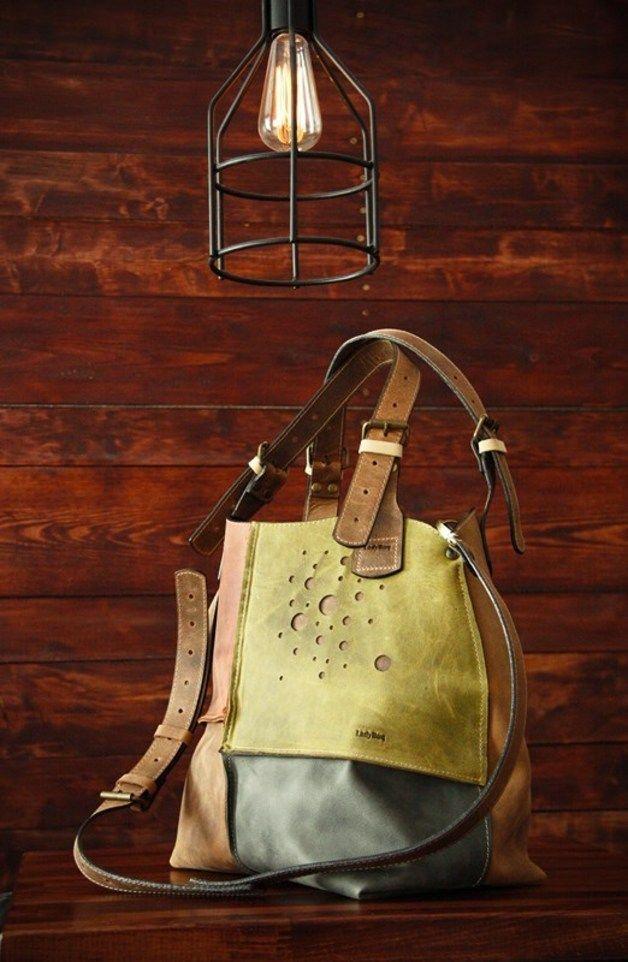 Bolsos de cuero - Bolso de cuero hecho a mano original - hecho a mano por ladybuqartstudio en DaWanda