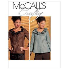Patron mccall's crafty - veste m5761/a5 (6-8-10-12-14)