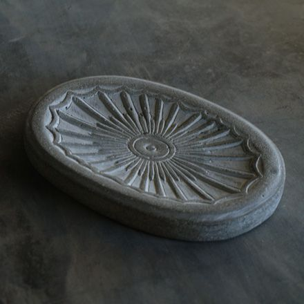 this cement sunburst soapdish is sure to add a splash of sunshine to your loved ones