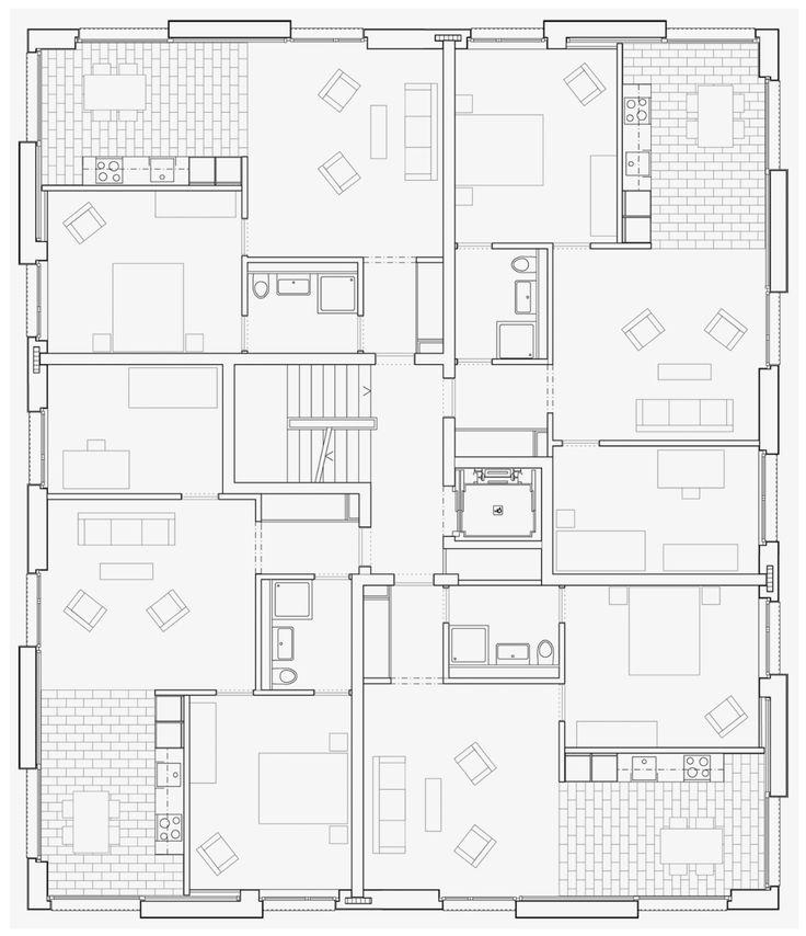 402 best images about vivienda social on pinterest for Apartment plans autocad