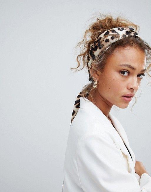 54cdbd4e4 DESIGN twist block headscarf in leopard print in 2019 | Accessories ...