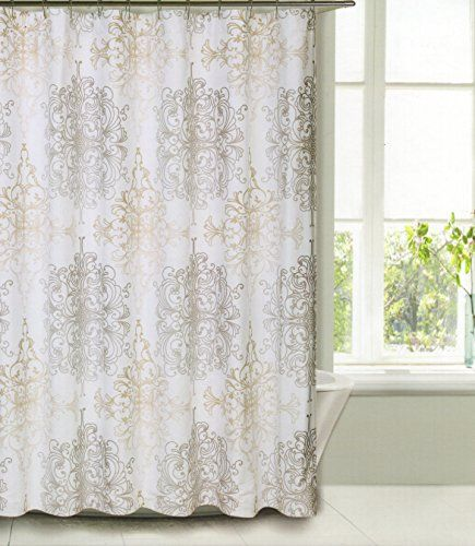 beige and white shower curtain. Shower Curtain Fabric Tahari Home Milan Scroll Medallion Design Taupe  Beige On White 65 Best Inspiration Driftwood Images Pinterest