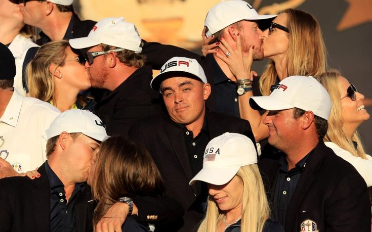 Wag-less wonder Rickie Fowler celebrates alone as USA players and partners revel in Ryder Cup victory - Telegraph.co.uk