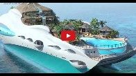 tropical island luxury yacht resim