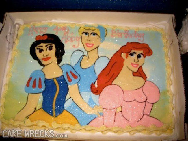 The Three Princesses  When Your Disney Inspired Cake Goes Horribly Wrong • Page 3 of 5 • BoredBug