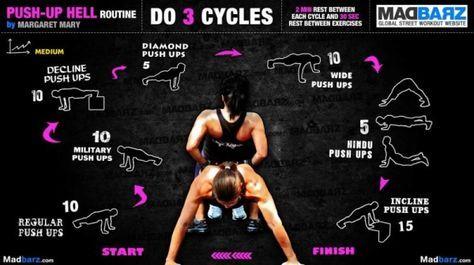 push up routine trening pompki