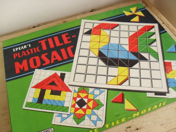 Spear's Game RETRO Game Plastic TILE-MOSAIC by BigGirlSmallWorld