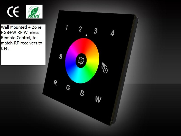 RF RGB Controller voor Wand montage