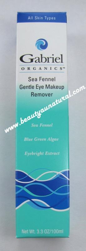 Beauty Au Natural: Gabriel Organics Sea Fennel Gentle Eye Makeup Remover: Waterproof Mascaras Eyeliner, Eye Makeup Removal, Gentle Eye, Eye Makeup Remover, Natural Eyeliner