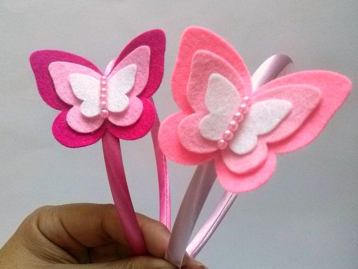 Light Pink Butterfly Headband Felt Pink Headband headband