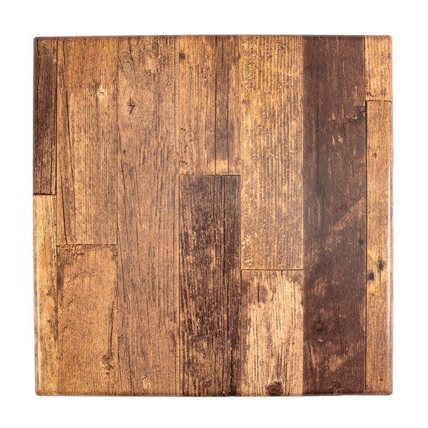 BFM Seating BW2424 SoHo 24″ Barn Wood Square Outdoor / Indoor Tabletop