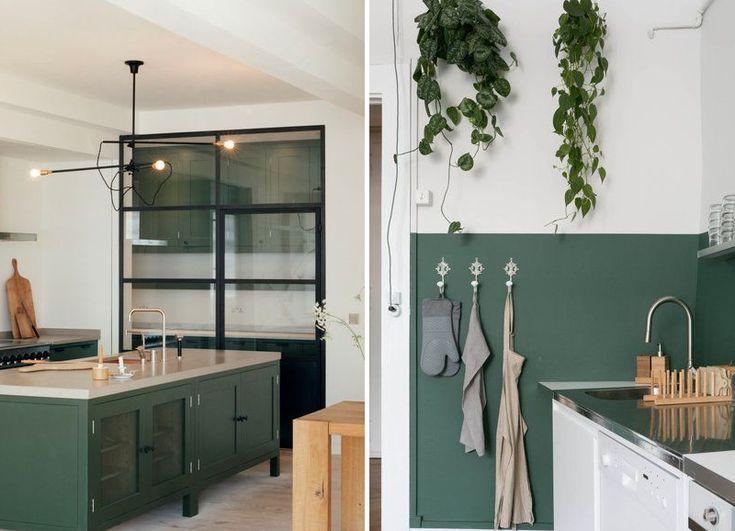 25 beste idee n over groene keuken op pinterest keuken planten interieurontwerp en koperen - Keukenmuren schilderen ...