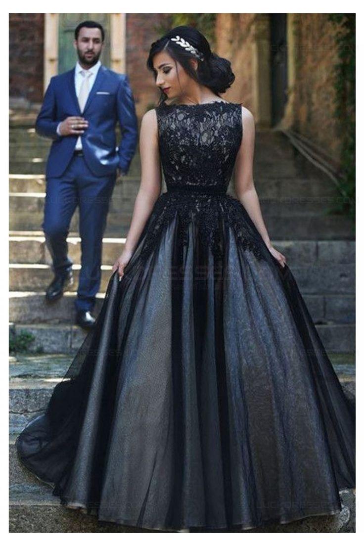 Black dress goals - Long Black Lace Prom Dresses Party Evening Gowns 3020336