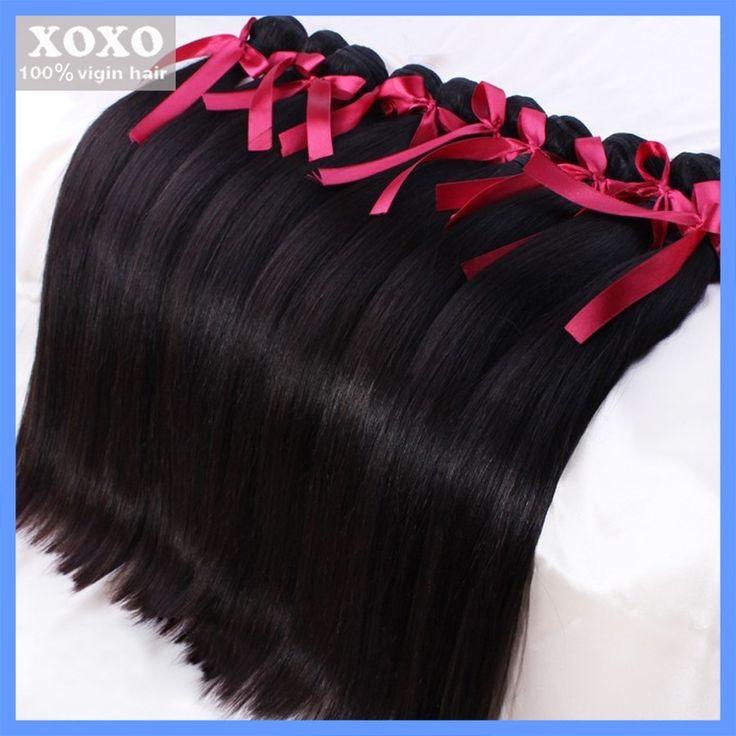 Brazilian virgin straight hair xoxo remy queen hair products 100% human hair  weaves 3 pcs/a lot , freeshipping