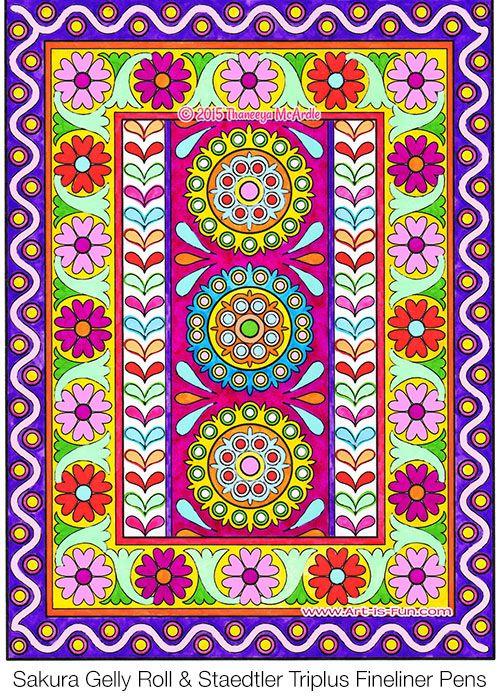Coloring Page From Thaneeya McArdles Folk Art Book Amzn