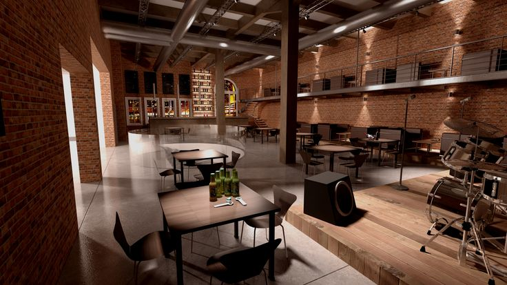 Étterem belsőépítészeti koncepció / Restaurant interior design concept