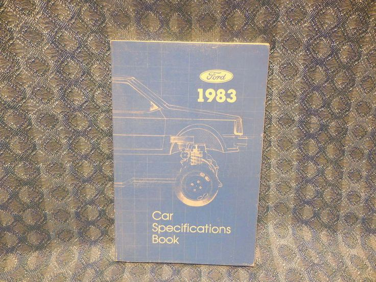 1983 Ford Lincoln Mercury Original Specification Book Mustang Cougar Mark Vl #Ford
