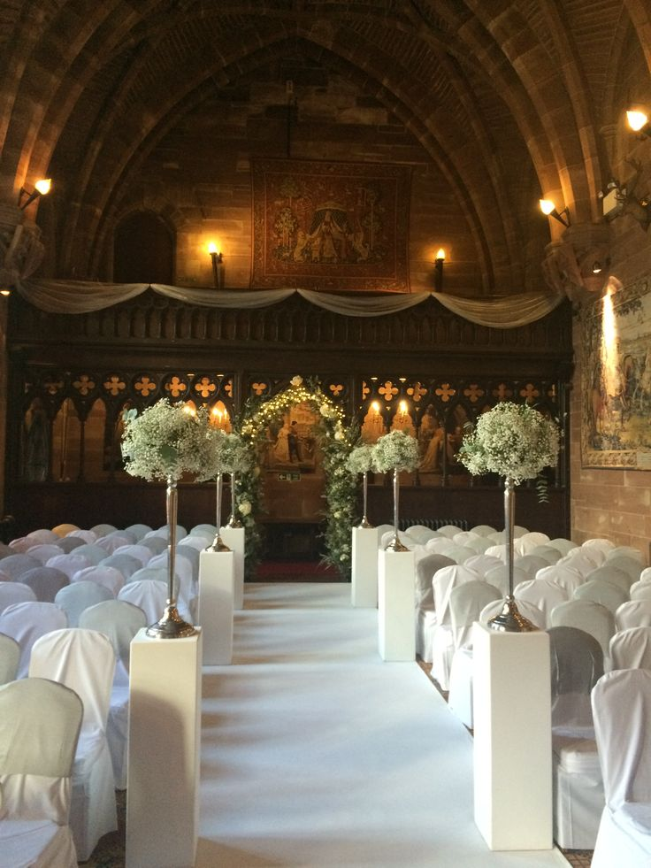 The Great Hall at Peckforton Castle. http://www.peckfortoncastle.co.uk/weddings