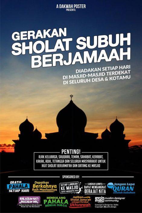 Sekuael Poster Gerakan Sholat Subuh Berjama'ah By Azlim Design 1
