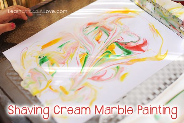 17 best images about painting fun recipes on pinterest for Shaving cream paint