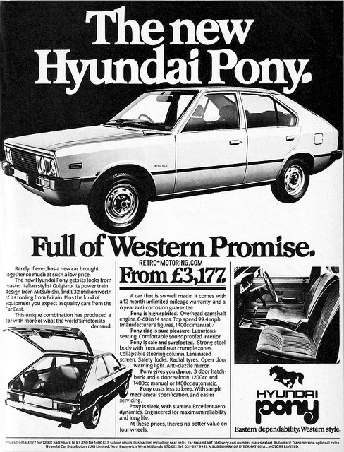 Hyundai Pony Retro