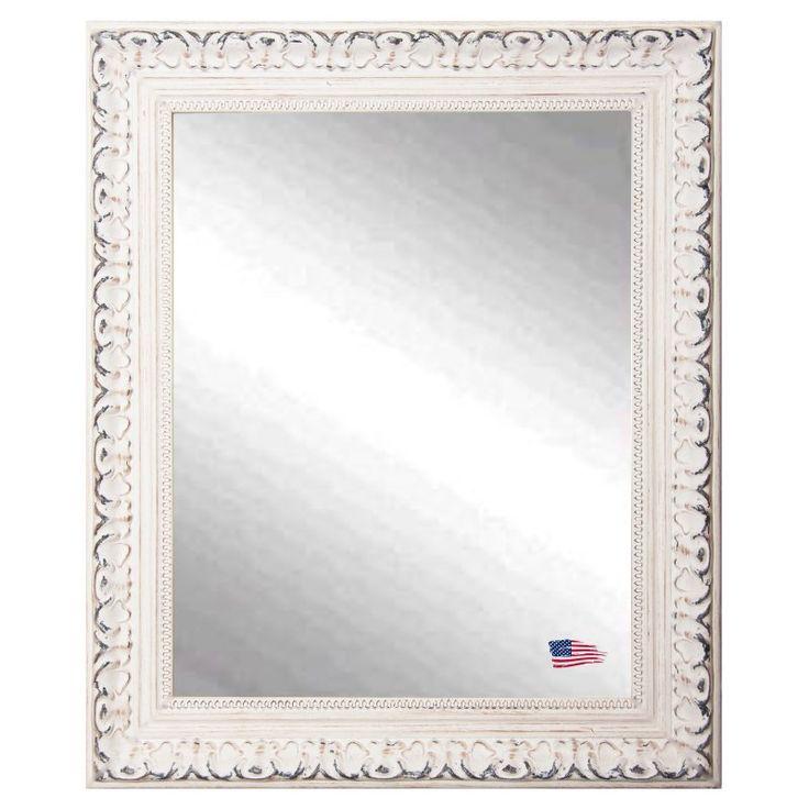 Rayne Mirrors Victorian White Wall Mirror - V039