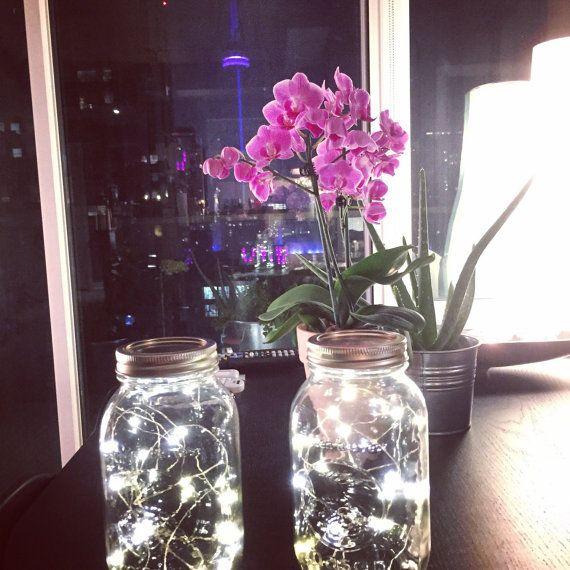 Lichterketten Herbst Hochzeit Einmachglas von ElectricCrowns