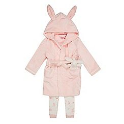 Baker by Ted Baker - Girls' pink bunny top, bottoms and dressing gown set