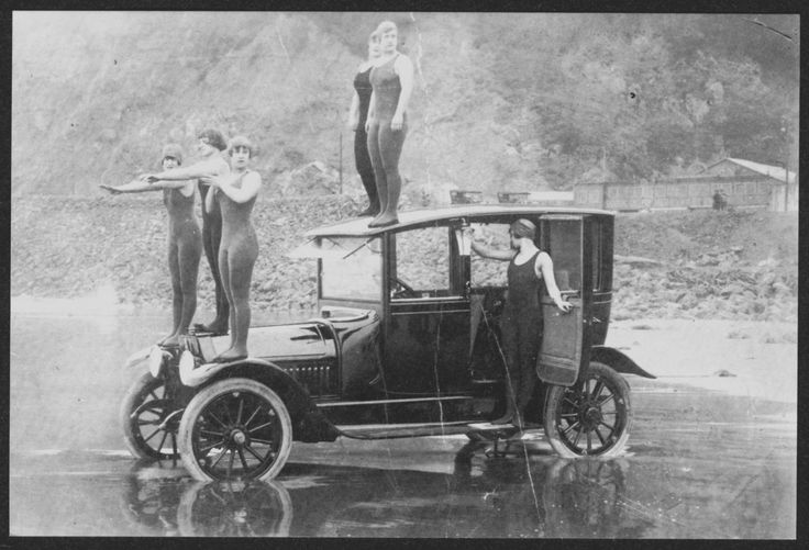 """SEXTET of GIRLS RARIN' TO GO ~ SAN FRANCISCO OCEAN BEACH, JUNE 22, 1914"". Mint Condition. | eBay!"