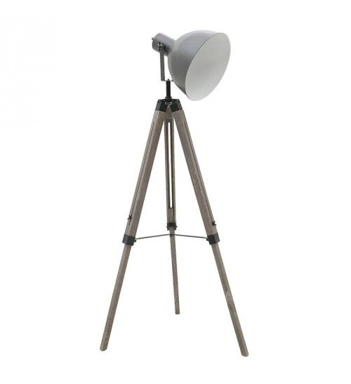 WOODEN_METAL TABLE LAMP IN GREY COLOR 60X56X144
