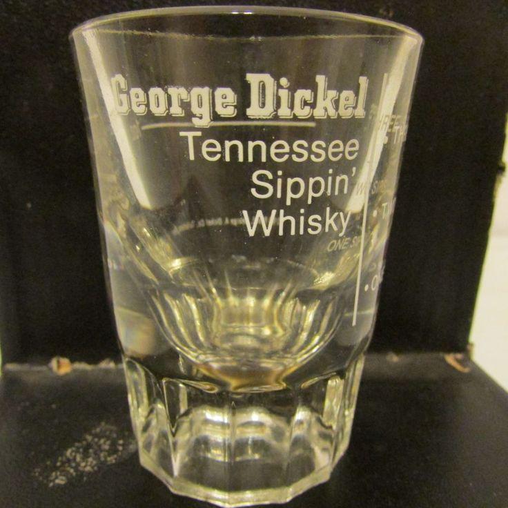George Dickel Whiskey Advertising Shot Glass Tennessee Sippin' #GeorgeDickel