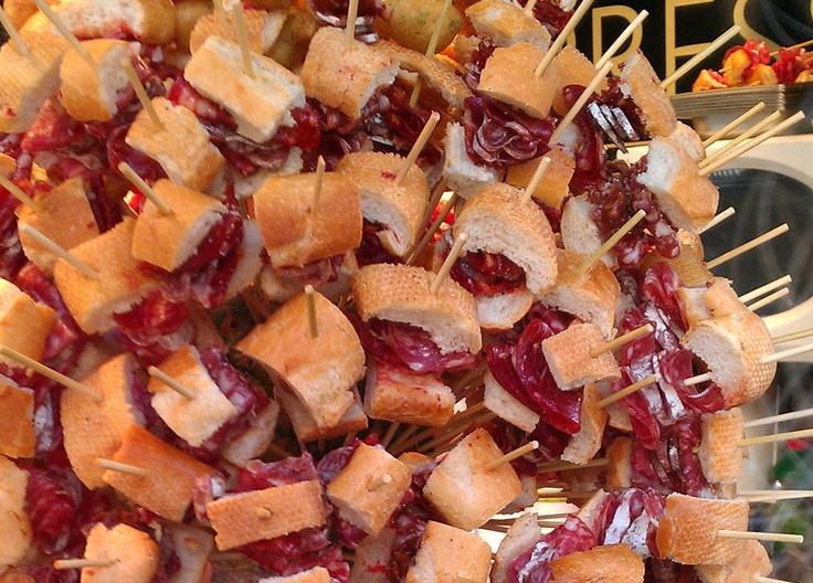 Pinchos de jamon iberico Bellota Manchados de Jabugo...mmmhhh que rico !!!