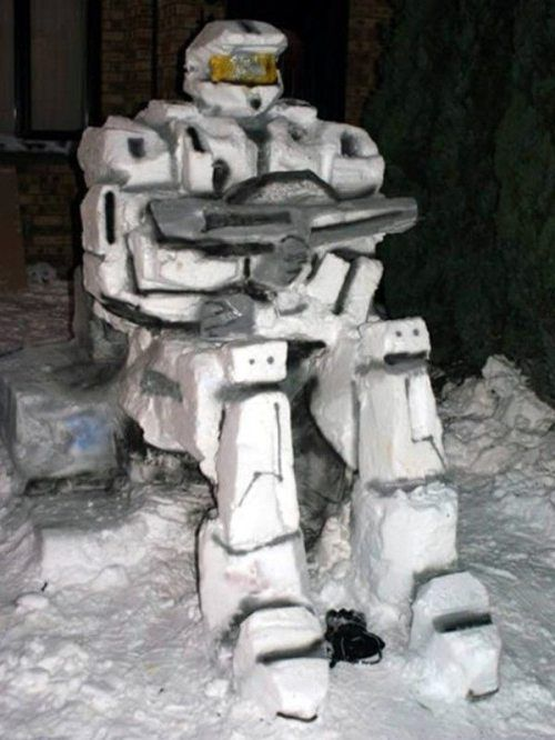 halo snowman